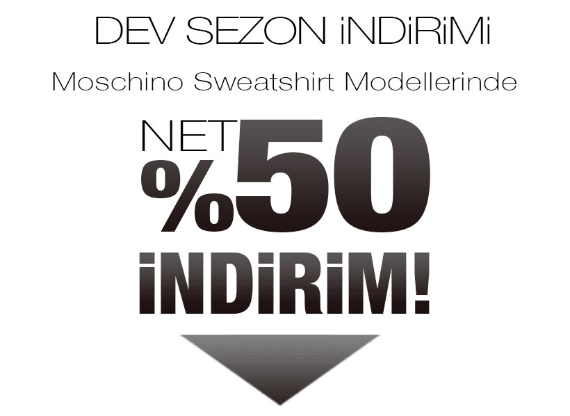 Moschino Sweatshirt Sezon Kampanyası