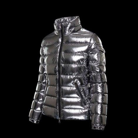 Moncler Mont Bady Gümüş - Moncler Kadin Mont 2020 Bady Silver Kisa Gumus Gri