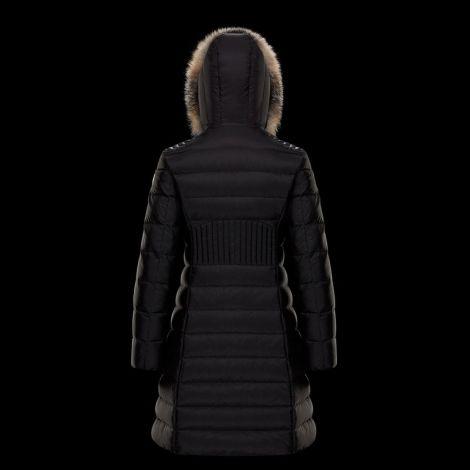 Moncler Mont Talev Siyah - Moncler Kadin Mont Talev Long Genius Siyah Fur