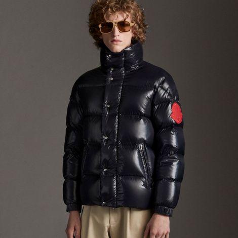 Moncler Mont Dervaux Lacivert - Moncler Mont 2021 Erkek Dervaux Jacket Sisme Lacivert