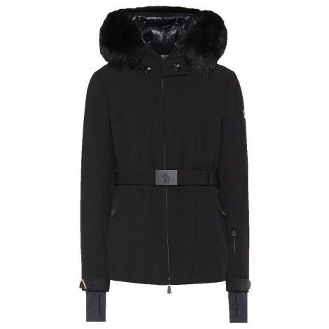 Moncler Mont Bauges Siyah - Moncler Mont Bauges Fur Trimmed Jacket Siyah