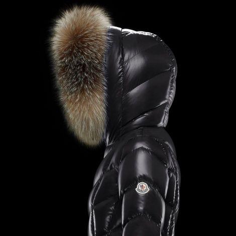 Moncler Mont Fulmarus Siyah - Moncler Mont Fulmarus Gri Kurklu Kadin Siyah