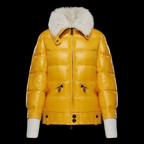 Moncler Mont Arabba Sarı - Moncler Mont Kadin Arabba Beyaz Kurklu Yeni Sezon Sari