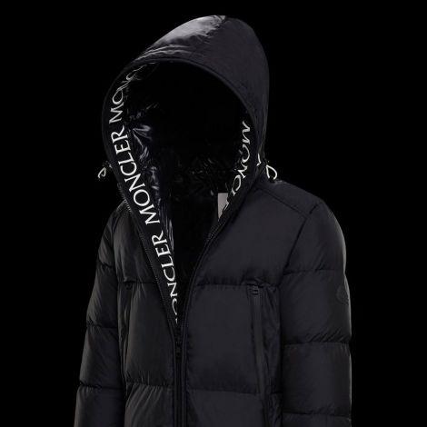 Moncler Mont Templon Siyah - Moncler Mont Templon Erkek Yeni Sezon Serit Logo Siyah