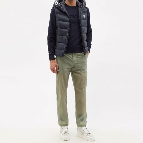 Moncler Yelek Montreuil Lacivert - Moncler Yelek Montreuil Hooded Quilted Down Gilet Lacivert
