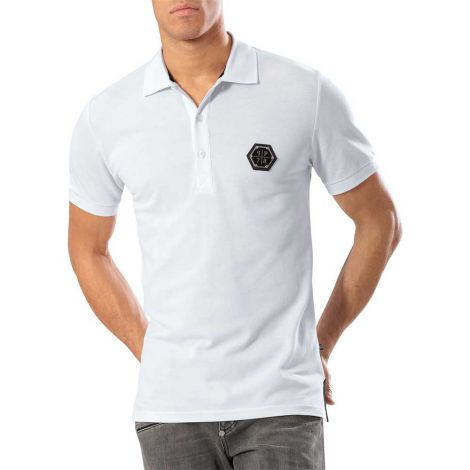 Philipp Plein Tişört Indian Tiger - Philipp Plein Polo Indian Tiger White Pr12
