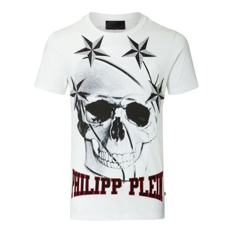 Philipp Plein Tişört Bolt Beyaz #PhilippPlein #Tişört #PhilippPleinTişört #Erkek #PhilippPleinBolt #Bolt