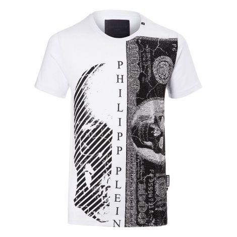 Philipp Plein Tişört Money Beyaz #PhilippPlein #Tişört #PhilippPleinTişört #Erkek #PhilippPleinMoney #Money