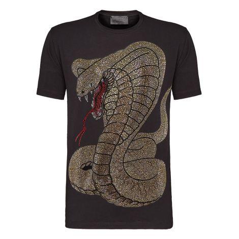 Philipp Plein Tişört Rich Snake Siyah #PhilippPlein #Tişört #PhilippPleinTişört #Erkek #PhilippPleinRich Snake #Rich Snake