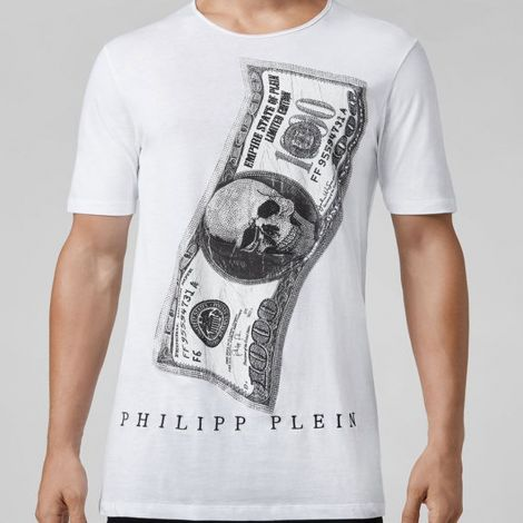 Philipp Plein Tişört Dollar Beyaz #PhilippPlein #Tişört #PhilippPleinTişört #Erkek #PhilippPleinDollar #Dollar