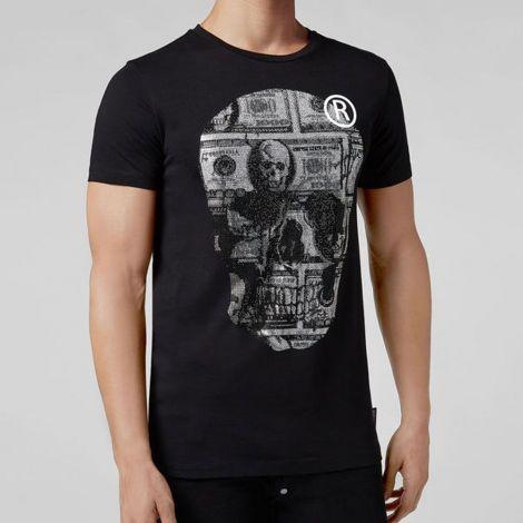 Philipp Plein Tişört Dollar Siyah #PhilippPlein #Tişört #PhilippPleinTişört #Erkek #PhilippPleinDollar #Dollar
