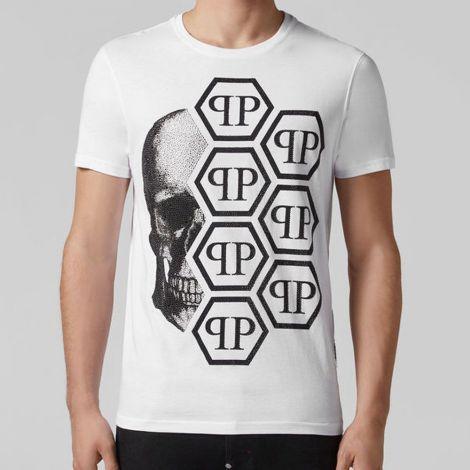 Philipp Plein Tişört Skull Beyaz #PhilippPlein #Tişört #PhilippPleinTişört #Erkek #PhilippPleinSkull #Skull