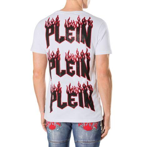 Philipp Plein Tişört Feel it Beyaz #PhilippPlein #Tişört #PhilippPleinTişört #Erkek #PhilippPleinFeel it #Feel it
