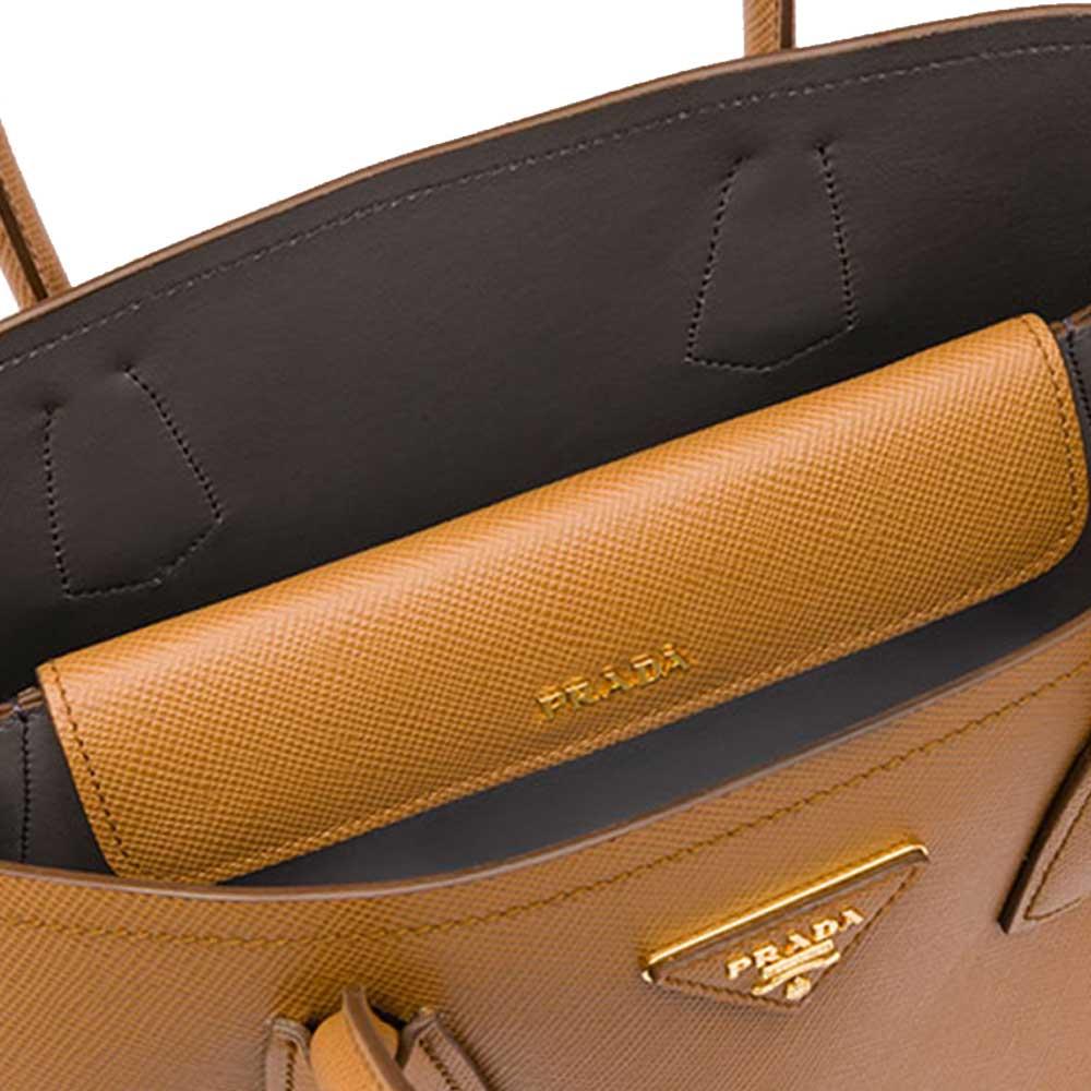 Prada Double Bag Çanta Kahverengi - 4 #Prada #PradaDoubleBag #Çanta - 4