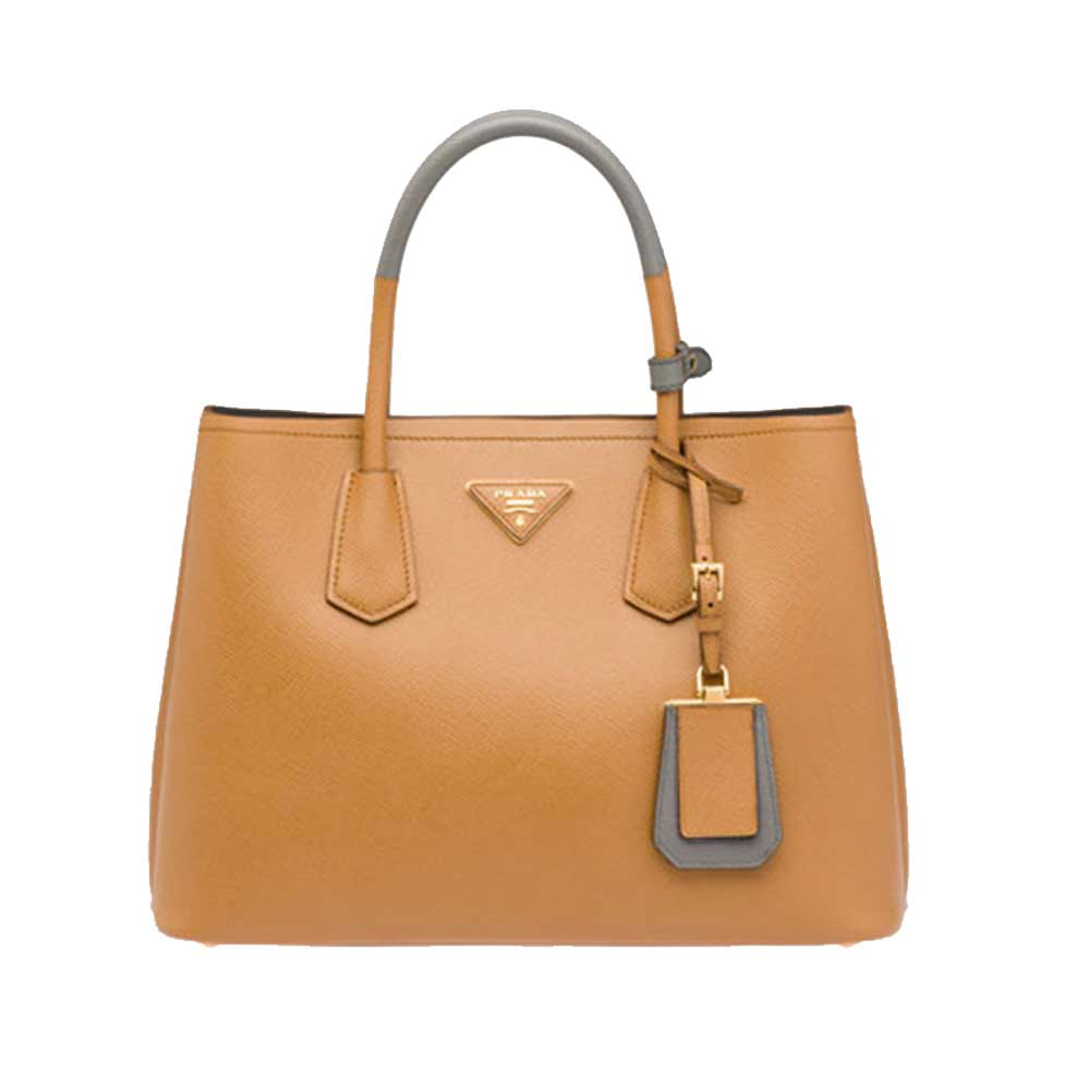 Prada Double Bag Çanta Kahverengi - 4 #Prada #PradaDoubleBag #Çanta