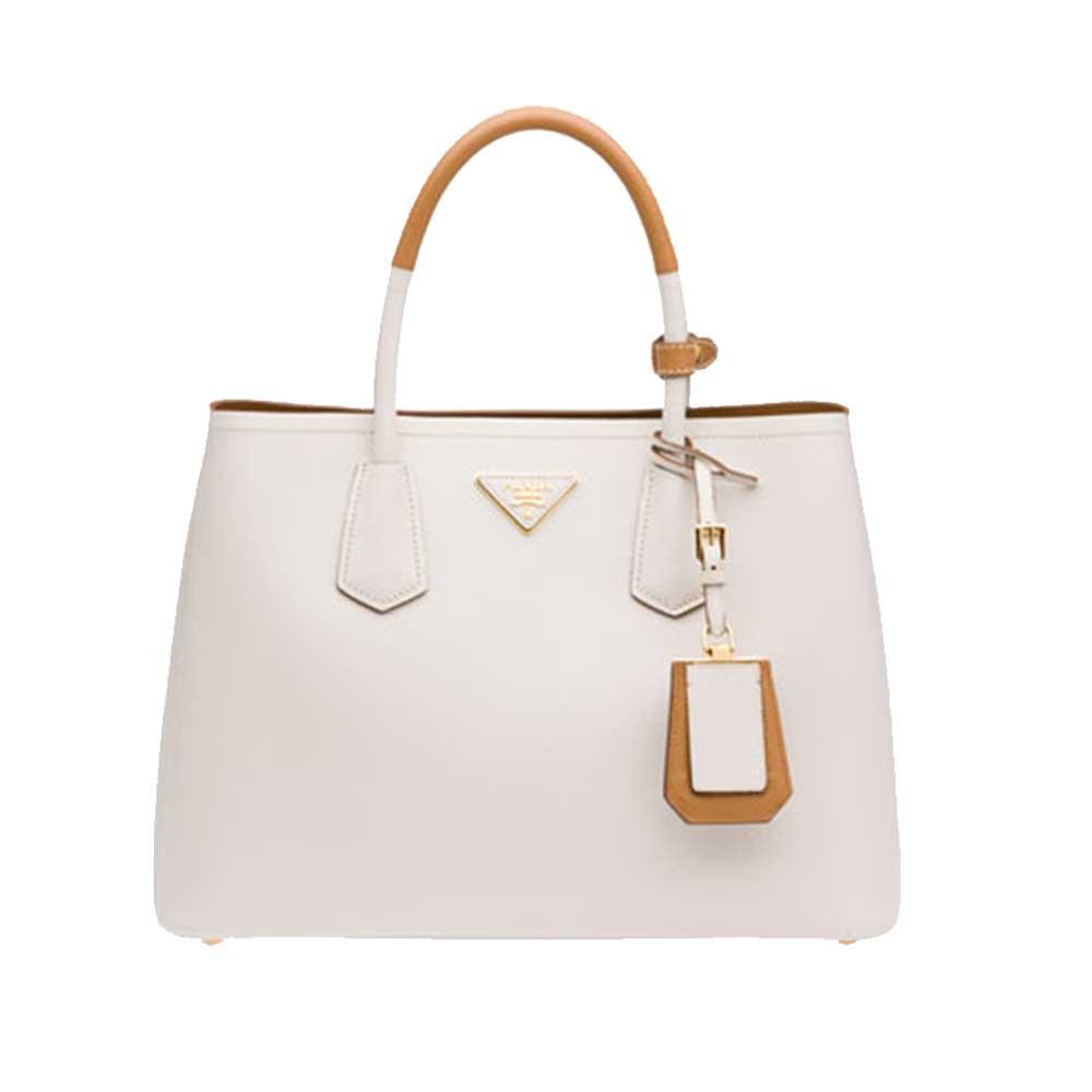 Prada Double Bag Çanta Beyaz - 5 #Prada #PradaDoubleBag #Çanta