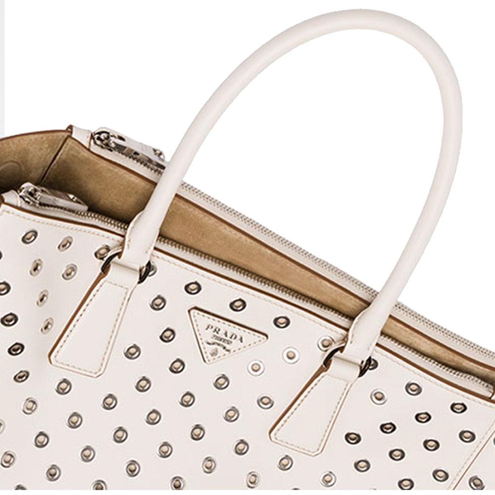 Prada Galleria Bag Çanta Beyaz - 12 #Prada #PradaGalleriaBag #Çanta - 4
