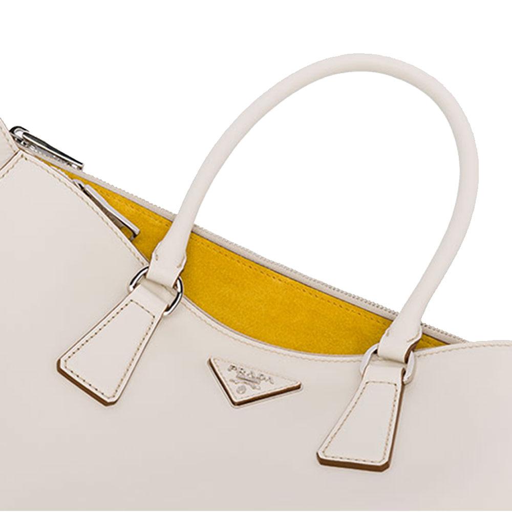Prada Galleria Bag Çanta Beyaz - 18 #Prada #PradaGalleriaBag #Çanta - 4
