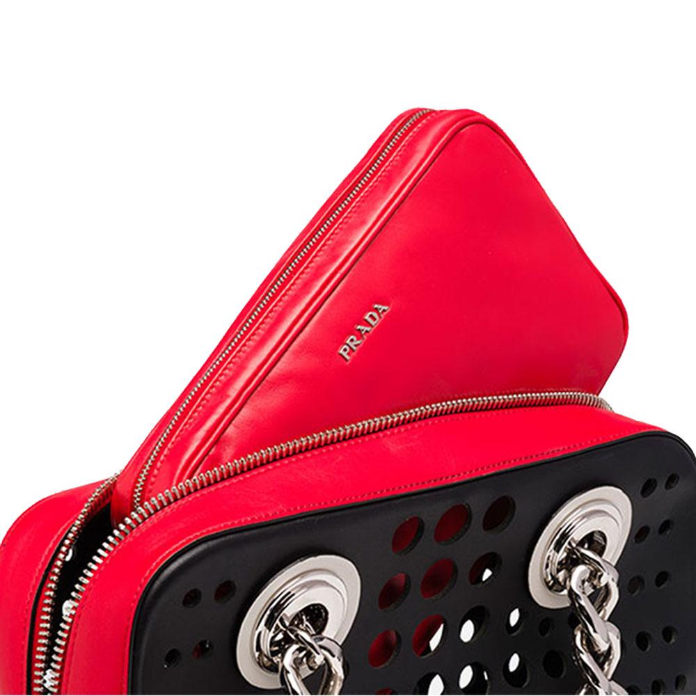 Prada Top Handle Bag Çanta Kırmızı - 22 #Prada #PradaTopHandleBag #Çanta - 4