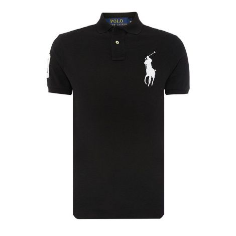 Ralph Lauren Tişört Polo Black - Polo T Shirt Ralph Lauren Big Rlp20