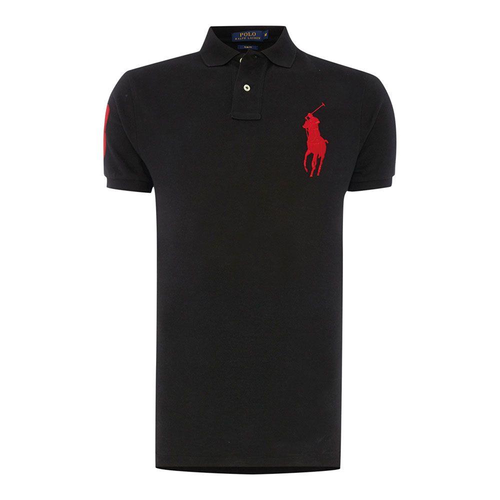 Ralph Lauren Polo Tişört Black Red - 25 #Ralph Lauren #RalphLaurenPolo #Tişört