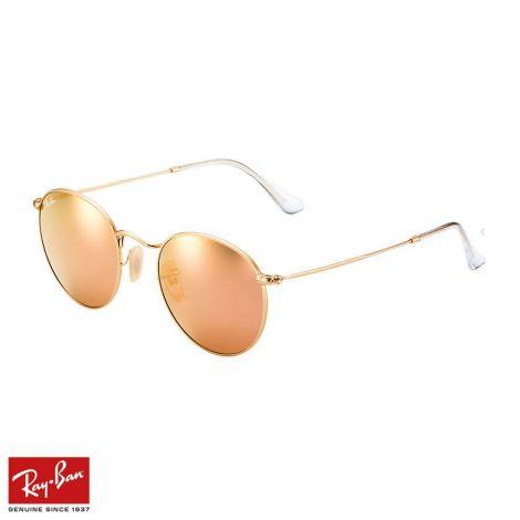 RayBan Gözlük Round Flash Bakır Altın #RayBan #Gözlük #RayBanGözlük #Unisex #RayBanRound Flash #Round Flash