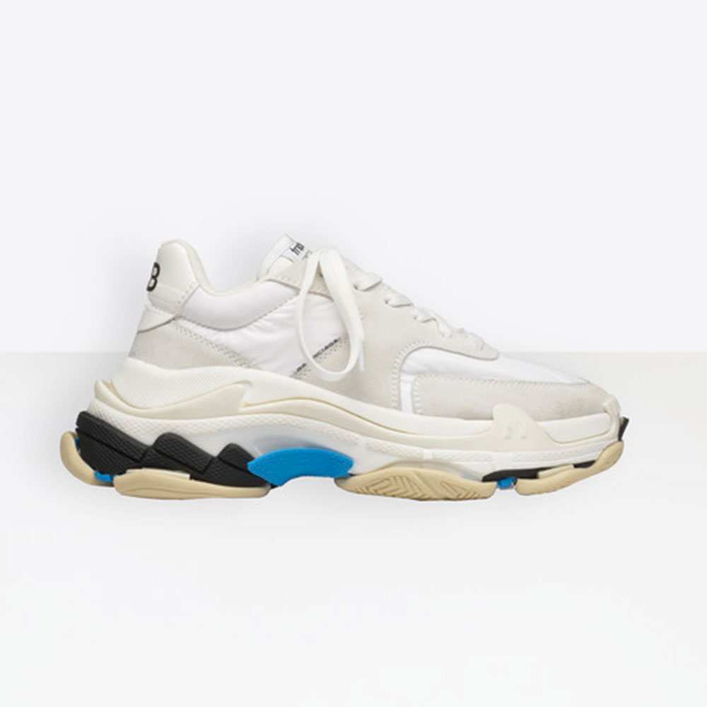 All The Balenciaga White Pink And Yellow Triple S Leather