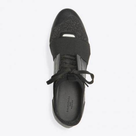 Balenciaga Ayakkabı Race Runner Siyah - Balenciaga Ayakkabi Bayan Race Runner Yuruyus Beyaz Siyah