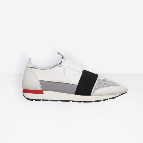 Balenciaga Ayakkabı Race Runner Beyaz - Balenciaga Race Runner Shoes Ayakkabi Kirmizi Beyaz