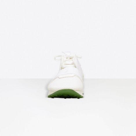 Balenciaga Ayakkabı Race Runner Beyaz - Balenciaga Race Runner Shoes Ayakkabi Yesil Taban Beyaz
