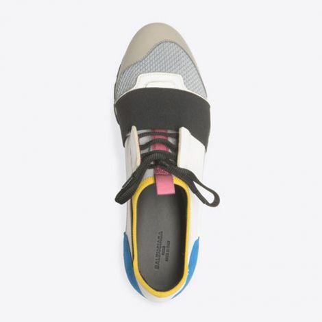 Balenciaga Ayakkabı Race Runner Beyaz - Balenciaga Race Runner Spor Ayakkabi Bayan Renkli Beyaz