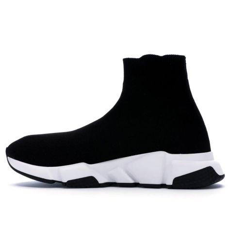 Balenciaga Ayakkabı Speed Siyah - Balenciaga Speed Trainer Black White Ayakkabi Siyah