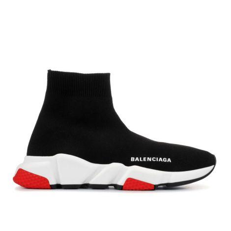 Balenciaga Ayakkabı Speed Siyah - Balenciaga Speed Trainer Black White Red Ayakkabi Siyah
