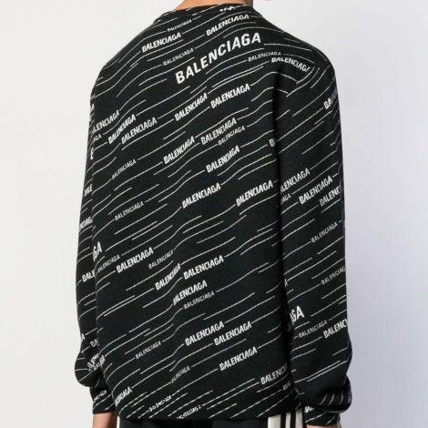 Balenciaga Sweatshirt Jacquard Siyah #Balenciaga #Sweatshirt #BalenciagaSweatshirt #Erkek #BalenciagaJacquard #Jacquard