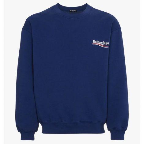 Balenciaga Sweatshirt Logo Mavi #Balenciaga #Sweatshirt #BalenciagaSweatshirt #Erkek #BalenciagaLogo #Logo