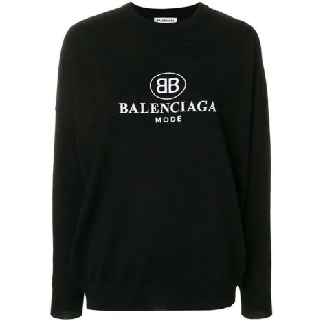 Balenciaga Sweatshirt BB Siyah #Balenciaga #Sweatshirt #BalenciagaSweatshirt #Kadın #BalenciagaBB #BB