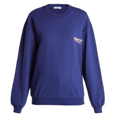 Balenciaga Sweatshirt Logo Mavi #Balenciaga #Sweatshirt #BalenciagaSweatshirt #Kadın #BalenciagaLogo #Logo