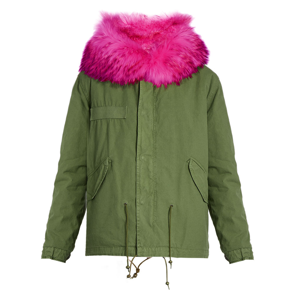 Balmain Fur Parka Yeşil - 3 #Balmain #BalmainFur #Parka