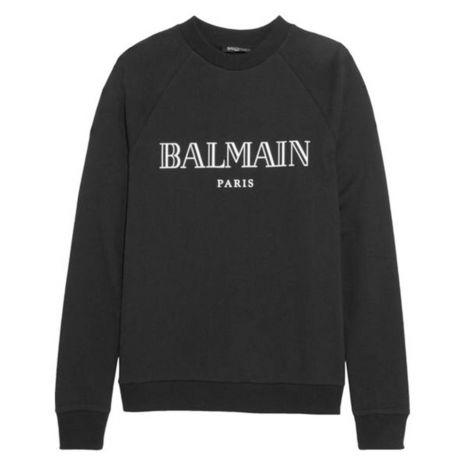 Balmain Sweatshirt Logo Siyah #Balmain #Sweatshirt #BalmainSweatshirt #Erkek #BalmainLogo #Logo