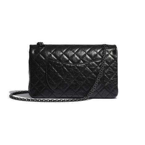 Chanel Çanta Grained Siyah - Chanel Canta 2 55 Handbag Aged Calfskin Black Metal Siyah