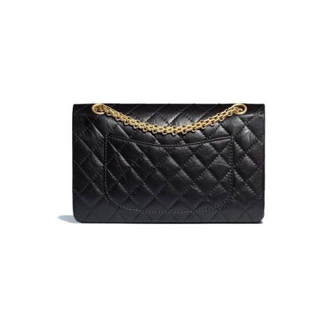 Chanel Çanta Grained Siyah - Chanel Canta 2 55 Handbag Aged Calfskin Gold Tone Metal Siyah