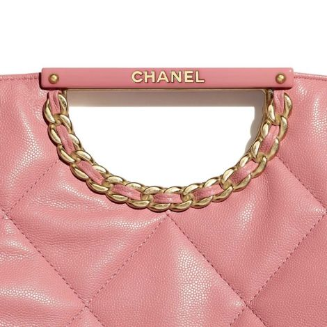 Chanel Çanta Grained Pembe - Chanel Canta Clutch Grained Calfskin Gold Tone Metal Pembe