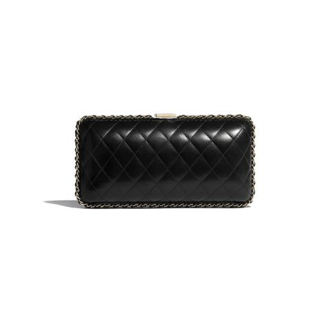 Chanel Çanta Pearls Siyah - Chanel Canta Evening Bag Lambskin Imitation Pearls Strass Gold Metal Siyah