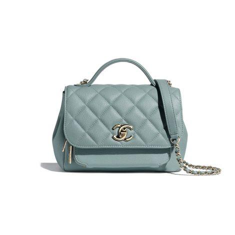 Chanel Çanta Grained Mavi - Chanel Canta Flap Bag With Top Handle Grained Calfskin Gold Tone Mavi