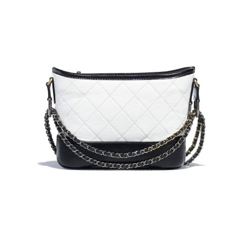 Chanel Çanta Gabrielle Beyaz - Chanel Canta Gabrielle Small Hobo Bag Aged Calfskin Smooth Beyaz Siyah