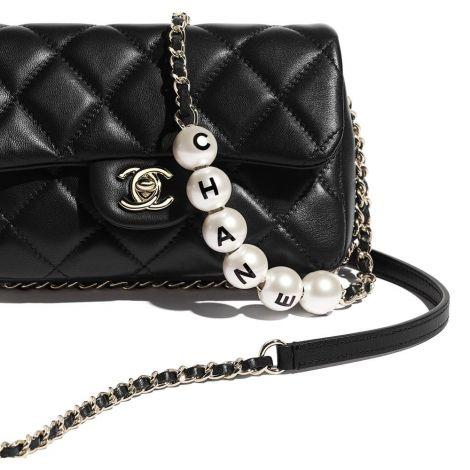 Chanel Çanta Pearls Siyah - Chanel Canta Small Flap Bag Lambskin Imitation Pearls Gold Tone Metal Siyah