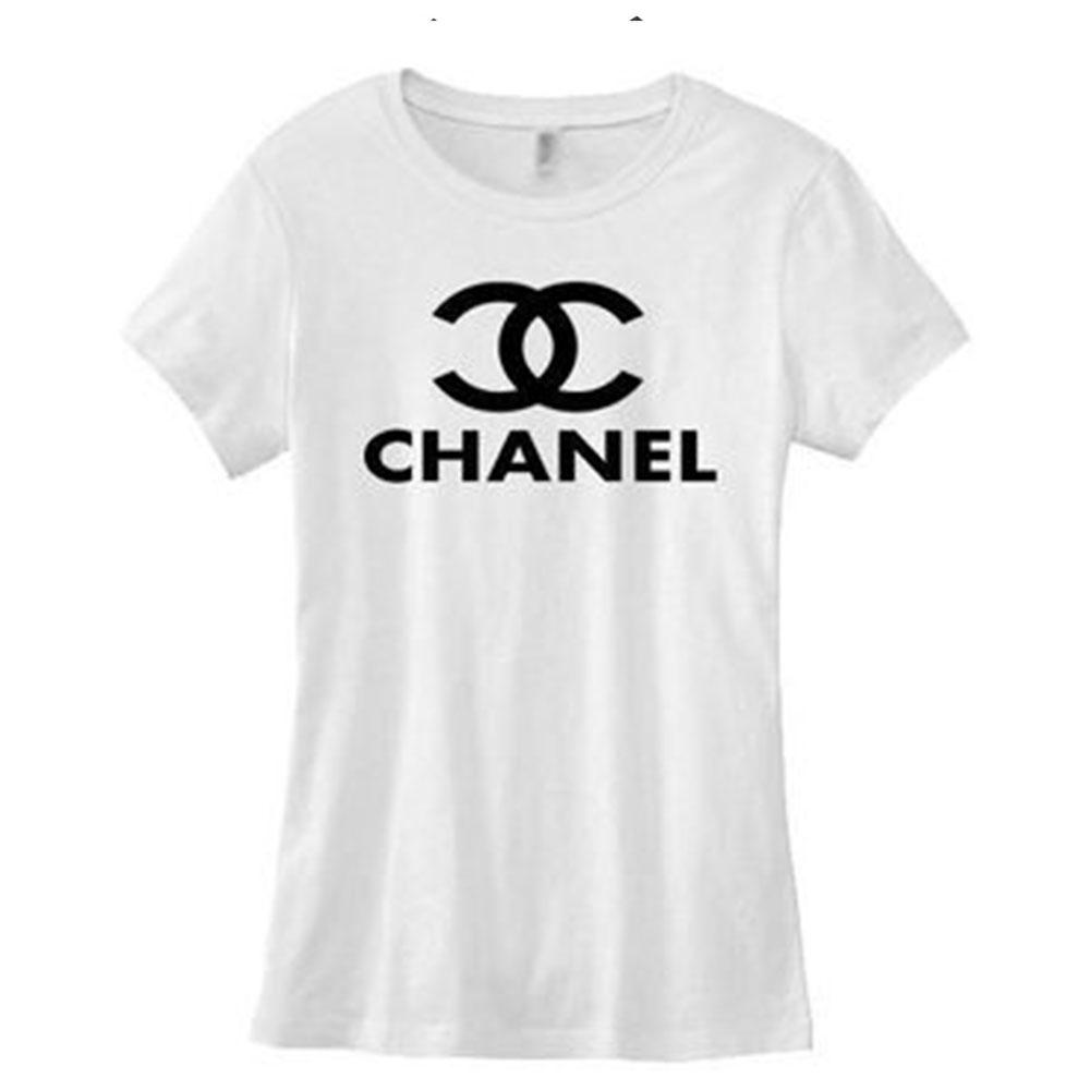 Chanel Logo Tişört Beyaz - 1 #Chanel #ChanelLogo #Tişört