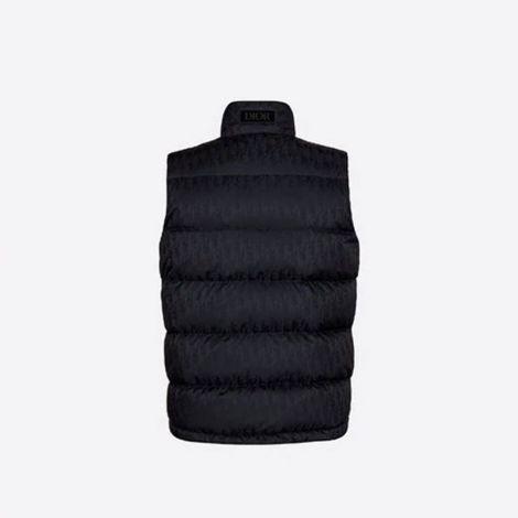 Dior Yelek Jacquard Lacivert - Dior Yelek Oblique Sleeveless Down Jacket Navy Blue Jacquard Lacivert