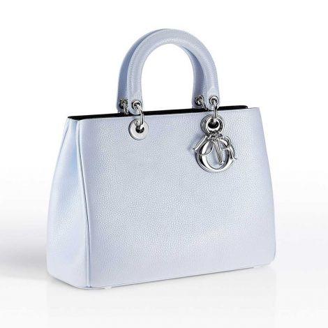 Dior Çanta Diorissimo Metallic Ciel Clair #Dior #Çanta #DiorÇanta #Kadın #DiorDiorissimo #Diorissimo