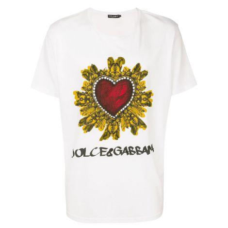 Dolce Gabbana Tişört Crest Beyaz #DolceGabbana #Tişört #DolceGabbanaTişört #Erkek #DolceGabbanaCrest #Crest